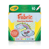 Crayola® Fineline Fabric Markers (pack of 10)