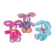 Fluffy Plush Rabbits (pack of 12)