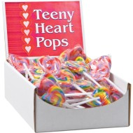 Teeny Heart Lollipops (case of 96)