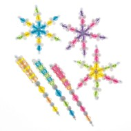 Snowflake and Icicle Beaded Ornament (makes 48)