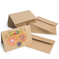 Kraft Paper Cards and Envelopes (pack of 50)
