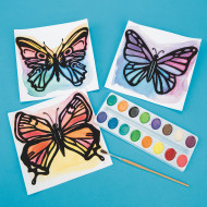 Watercolor Velvet Art Butterflies (pack of 30)