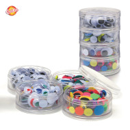 Assorted Wiggly Eyes with Container (pack of 400)