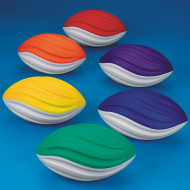 "Spectrum™ 5"" Spiral Foam Football Set (set of 6)"