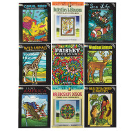 Stained Glass Coloring Book Assortment (pack of 9)
