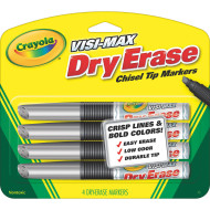 Crayola® Dry Erase Broad Line Markers (pack of 4)