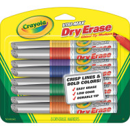 Crayola® Visi Max Dry-Erase Markers, Asst. Colors (set of 8)