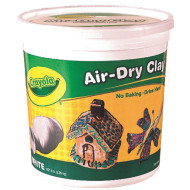 CRAYOLA AIR-DRY CLAY 5LB - WHITE