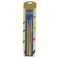 Sargent Art Assorted Flat Brushes with Wooden Handles (pack of 3)