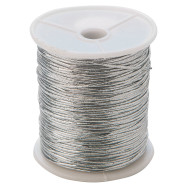 Metallic Silver Stretch Cord