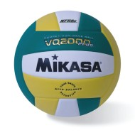 Mikasa® VQ2000 Competition Composite Indoor Volleyball, Kelly Green/Gold