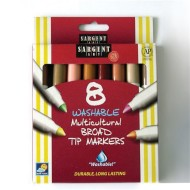 Multicultural Washable Markers  (pack of 8)