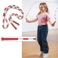 Red/White Beaded Jump Rope, 8ft