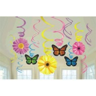 Spring Hanging Swirl Decoration (pack of 12)