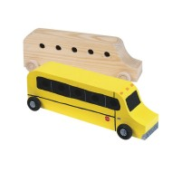 Unfinished Wood School Bus, Unassembled