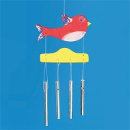 Unfinished Bird Wind Chimes, Preassembled (pack of 6)