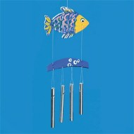 Unfinished Fish Wind Chimes, Preassembled (pack of 6)