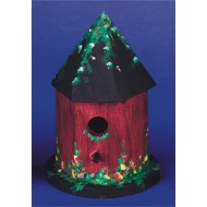 Unfinished Hut Style Wood Birdhouse