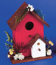 Unfinished Birdhouse with Perch