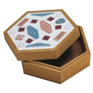 Unfinished Hexagon Wooden Box