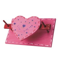Unfinished Heart Napkin Holder, Unassembled
