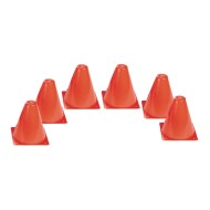 "Orange Spectrum™ Cones, 6"" (set of 6)"