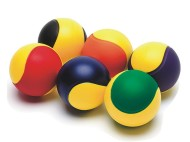 "Two-Color Foam Balls, 2-3/4""  (set of 6)"