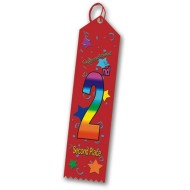 Multicolored Award Ribbon - 2nd Place (pack of 25)
