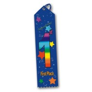 Multicolored Award Ribbon - 1st Place (pack of 25)