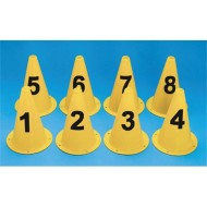 "9"" Numbered Cones  (set of 8)"