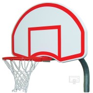 Gared® Steel Backboard, Goal and Bent Post 3-1/2""