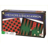 Classic Checkers and Backgammon Game