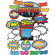 Superhero Bulletin Board Set (set of 52)