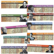 Notable Black Americans Bulletin Board Panels (set of 10)