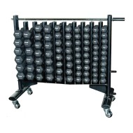 Neoprene Hex Dumbbell Set with Rack