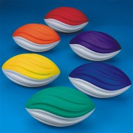 Spectrum™ Spiral Foam Football Set  (set of 6)