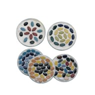 Ceramic Tile Metal Coasters Kit  (pack of 96)