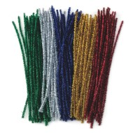 "Chenille Stems 12""x6mm - Sparkle  (pack of 100)"