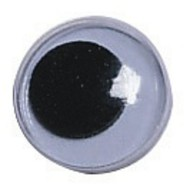Black Paste-On Wiggly Eyes, 15mm  (pack of 100)