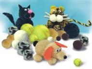 Variegated Animal Pom Poms  (pack of 300)