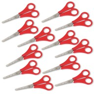 "Red Handle Safety Scissors 5-1/2"" (pack of 12)"
