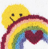 "Sunshine Rainbow Latch Hook Kit, 12""x12"""