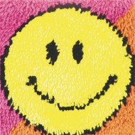 "Smiley Face Latch Hook Kit, 12""x12"""