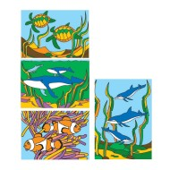 "Sand Art Boards 5""x7"" - Sea Life  (pack of 12)"