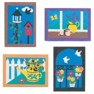 "Sand Art Boards 5""x7"" - Garden  (pack of 12)"