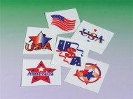 Patriotic Tattoos  (pack of 144)