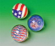 Patriotic High Bounce Balls  (pack of 12)