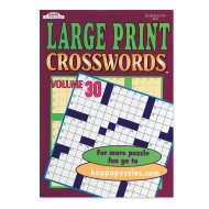 Large Print Word-Finds and Crosswords Book (pack of 12)