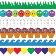 Grass and Waves Border Trim Assortment (pack of 6)