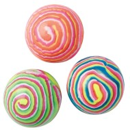 Neon Stripe High Bounce Balls (pack of 12)